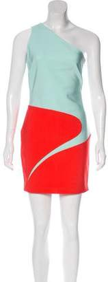 Thierry Mugler One-Shoulder Colorblock Dress w/ Tags