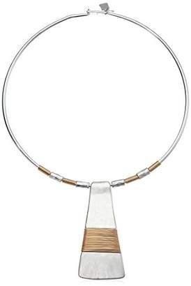 Robert Lee Morris Women's 2 Tone Wire Wrap Round Pendant Necklace