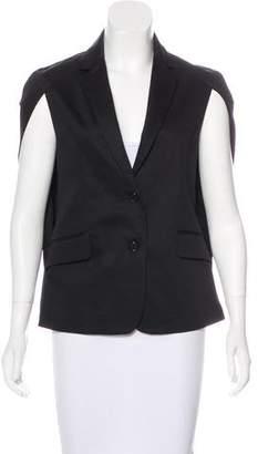 Alexis Notch-Lapel Button-Up Vest w/ Tags