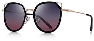 Cat Eye OLIEYE Fashion Women's Polarized Sunglasses Gradient Lens Metal Temple O6176