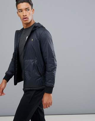Farah Sport Busby zip-through hooded track jacket in navy