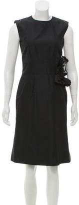 Boudicca Appliqué Knee-Length Dress