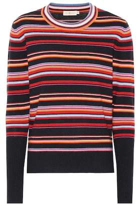 Tory Burch Kit striped cashmere-blend sweater