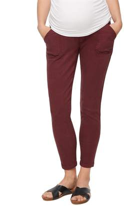 A Pea in the Pod Secret Fit Belly Twill Ankle Maternity Pants