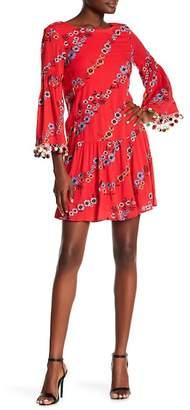 Nicole Miller New York Embroidered Drop Waist Dress