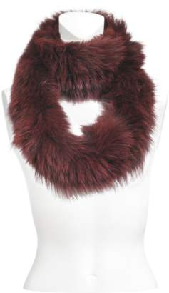Yves Salomon knitted scarf fox