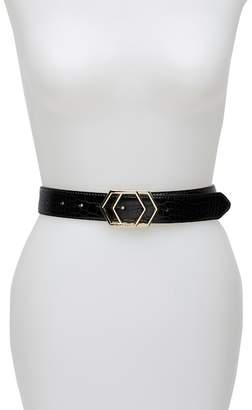 Vince Camuto Geometric Logo Buckle Belt