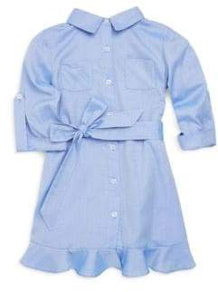 Milly Minis Toddler's, Little Girl's& Girl's Cotton Oxford Shirt Dress