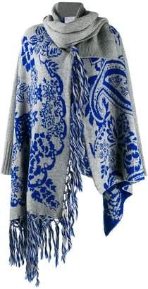 Sacai knit cardigan with scarf detail