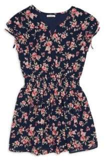 Ella Moss Girl's Floral-Print Chiffon Dress