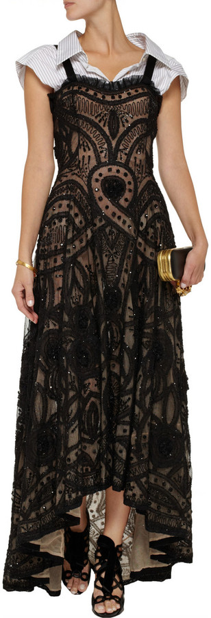 Alexander McQueen Layered beaded tulle gown