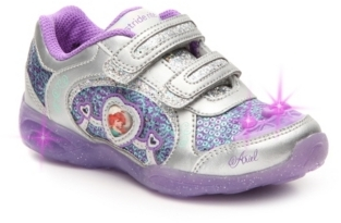 DisneyDIsney Little Mermaid Girls Toddler Under The Sea Light-Up Sneaker