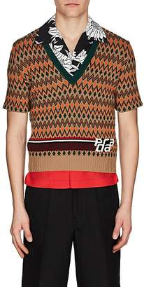 Prada Men's Argyle Wool-Cashmere Jacquard Sweater