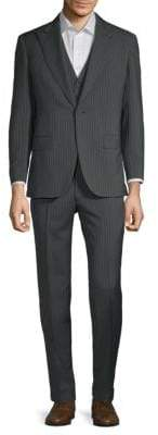 Brioni Wool Mohair Pinstripe Three-Piece Suit