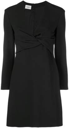 Dondup draped flared mini dress