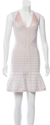 Herve Leger Natalija Bandage Dress w/ Tags champagne Natalija Bandage Dress w/ Tags