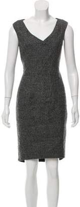 Christian Dior Sleeveless Sheath Dress Grey Sleeveless Sheath Dress