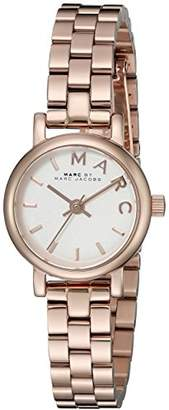 Marc by Marc Jacobs Women's MBM3431 Baker Analog Display Rose Gold-Tone Watch