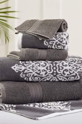 Amrapur Platinum Artesia Damask Reversible Yarn-Dyed Jacquard 6-Piece Towel Set