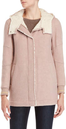 BCBGMAXAZRIA Sherpa-Lined Hooded Jacket