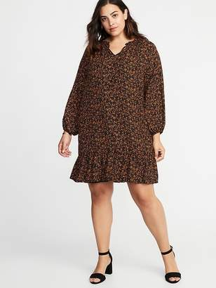 Old Navy Ruffle-Trim Plus-Size Georgette Swing Dress