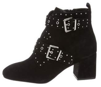 Rebecca Minkoff Studded Suede Ankle Boots