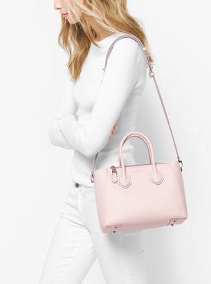 Michael Kors Helena Small French Calf Leather Satchel