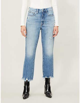 Good American Good Vintage chewed-hem high-rise jeans