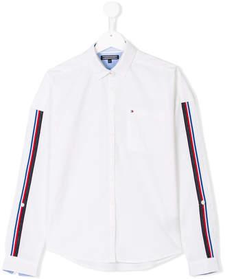 Tommy Hilfiger Junior stripe appliqué shirt
