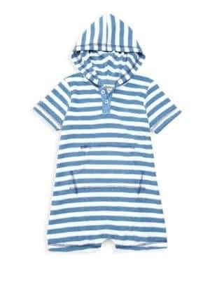 Hatley Baby Boy's Striped Hooded Romper