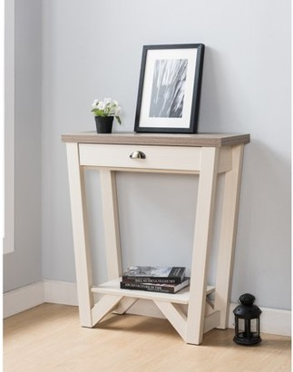Furniture of America Marlin Contemporary Console Table, Ivory & Light Oak