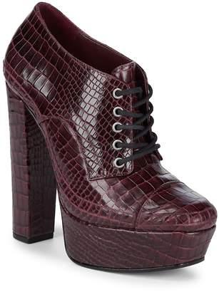 Schutz Women's Katrine Embossed Leather Booties