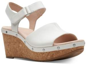 bf83fbcfa16 Clarks Collection Women s Annadel Clover Wedge Sandals Women s Shoes