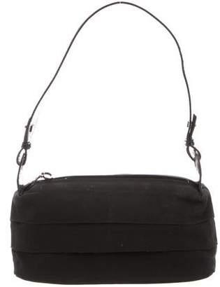 Salvatore Ferragamo Leather-Trimmed Grosgrain Bag