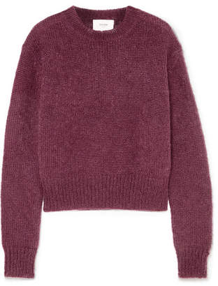 Bassike Mohair And Wool-blend Sweater - Grape