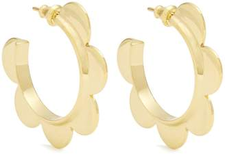 Simone Rocha Flower small gold-plated earrings