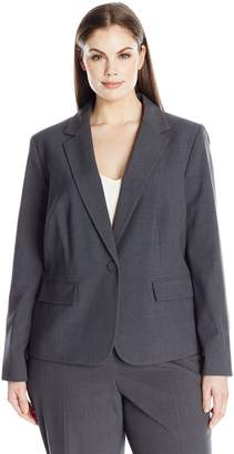 Nine West Women's Plus Size Solid Jacket