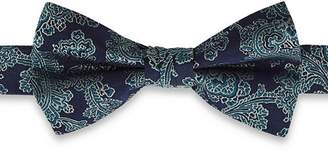 Ted Baker Lolbow Floral Print Mulberry Silk Bow Tie