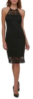 GUESS Halter Lace Strap Dress