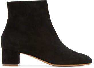 Mansur Gavriel Black Suede Ankle Boots