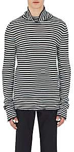 Maison Margiela MEN'S STRIPED LINEN TURTLENECK SWEATER SIZE XL