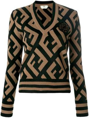 Fendi FF logo knit sweater