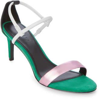 Sandro Green Meadow Juliette Strappy Sandals