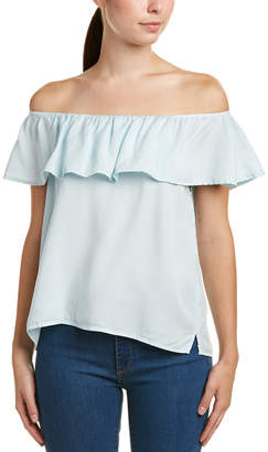 Glam Ruffled Off-The-Shoulder Top