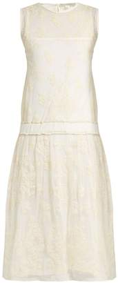 Liliana QUEENE AND BELLE embroidered mesh dress