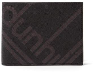 Dunhill Logo Print Textured Leather Bi Fold Wallet - Mens - Black