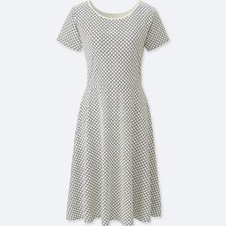 Uniqlo Women's Geometric-print Short-sleeve Bra Dress