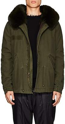 Mr & Mrs Italy Men's Fur-Lined Cotton-Canvas Mini Parka