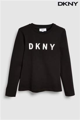 Next Girls DKNY Girls Logo Long Sleeve Tee