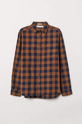 H&M Regular Fit Oxford Shirt - Beige